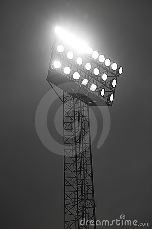 Free Stadium Spotlights Royalty Free Stock Image - 10827086