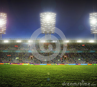 Free Stadium With Fans Royalty Free Stock Image - 40105316