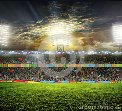 Free Stadium With Fans Royalty Free Stock Photos - 40998958