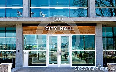 Stadshus Redaktionell Arkivfoto