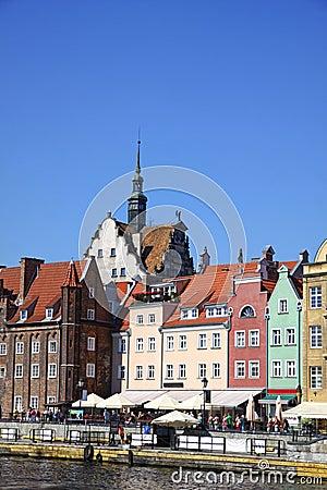 Stadt von Gdansk, Polen