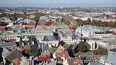 Stadtbild von Riga, Lettland stock footage