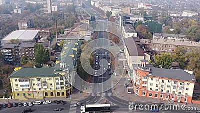 Stadtsicht Timelapse Mariupol Ukraine stock footage