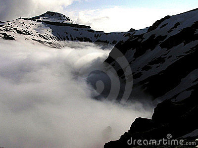 Stag s valley in fog - Bucegi mountains