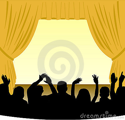 Free Stage And Audience Stock Photography - 858782
