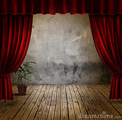 Free Stage And Velvet Curtains Stock Photography - 5932562