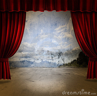 Free Stage And Velvet Curtains Royalty Free Stock Image - 5932576