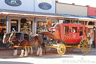 Stage Coach Editorial Stock Image