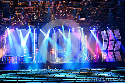 Stage With Colored Lighting