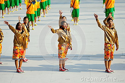Stage dance performance during NDP 2012 Editorial Photo