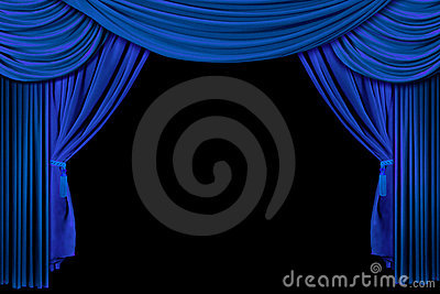 Curtains Ideas black theater curtains : Stage Drape Curtains On Black Background Stock Photo - Image: 4082630