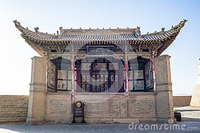 The stage inside Jiayuguan castle, Gansu of China