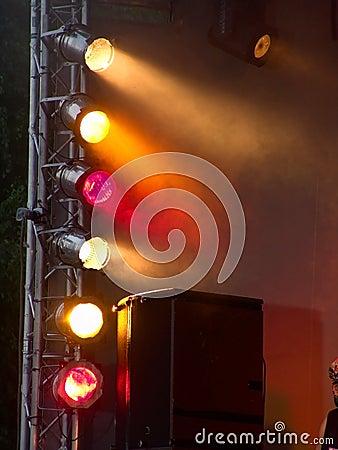 Stage lights during concert