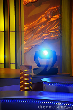 Stage lights - Studio for production TV show