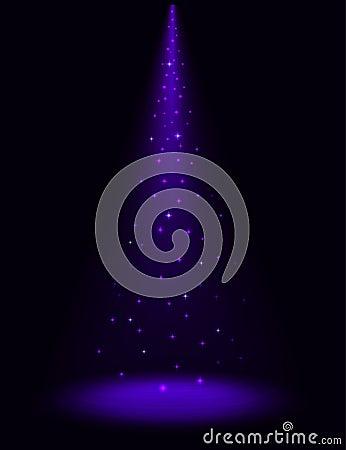 Stage sparkling spotlight