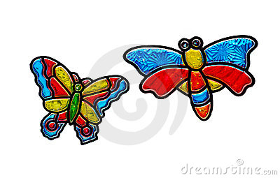 Stained butterflies