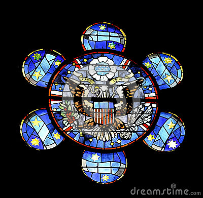 Stained glass American eagle