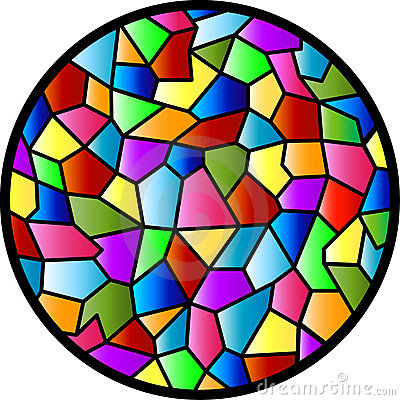 Stained Glass Circular Window Royalty Free Stock