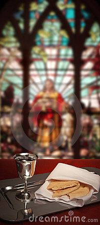 Stained glass communion