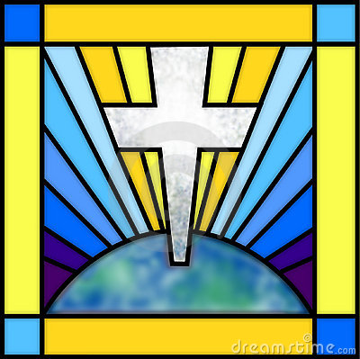 Free Stained Glass Cross Royalty Free Stock Photography - 504827