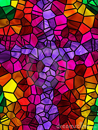 Free Stained Glass Cross Stock Image - 5747421