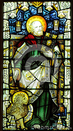 Stained glass depicting st mark
