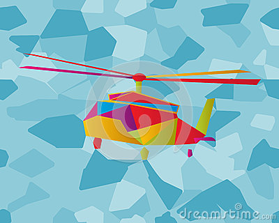 Stained glass helicopter
