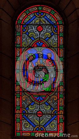 Free Stained Glass In Saint Nicholas Cathedral Monaco Ville Stock Photography - 59110692