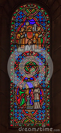 Free Stained Glass In Saint Nicholas Cathedral Monaco Ville Royalty Free Stock Photo - 59110695