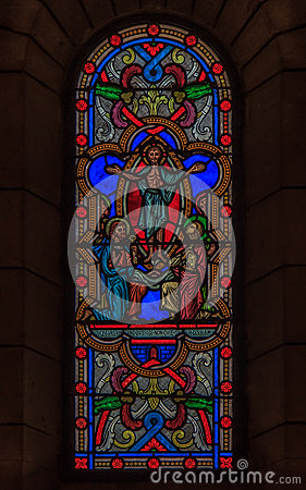 Free Stained Glass In Saint Nicholas Cathedral Monaco Ville Royalty Free Stock Images - 59110699