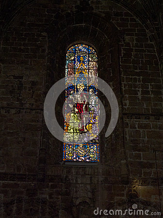 Free Stained Glass In The Jeronimos Monastery  In Lisbon Portugal Royalty Free Stock Photos - 74422158