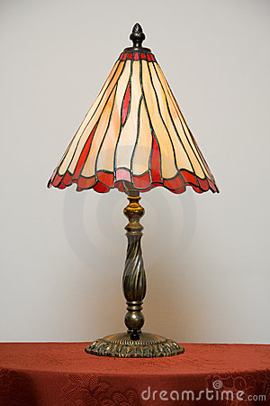 Free Stained Glass Lamp On Table Stock Image - 12969521