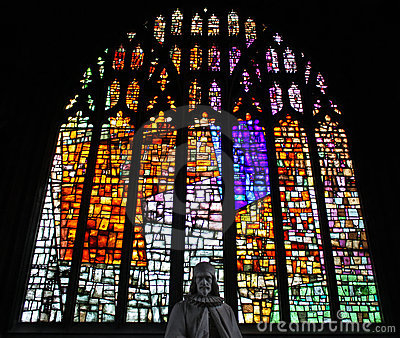 Stained glass in Manchester Cathedral