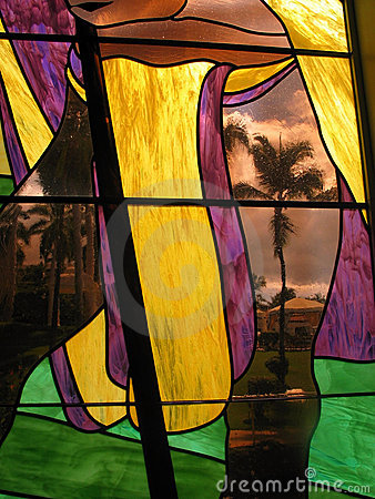 Stained Glass Palm