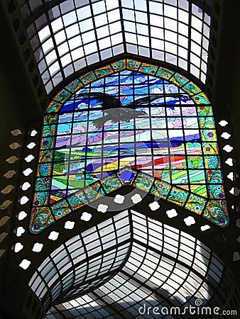 Stained Glass Passage - Black Eagle Hotel, Oradea, Romania