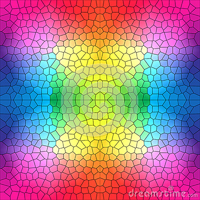 Free Stained Glass Pattern In Bright Colors Royalty Free Stock Photo - 38417565