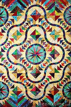 Free Stained Glass Quilt Pattern Stock Photos - 10903013