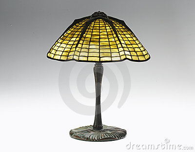 Stained Glass shade table lamp Editorial Photography