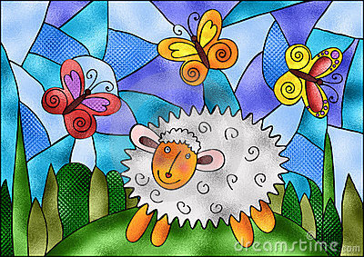 Stained Glass spring motive