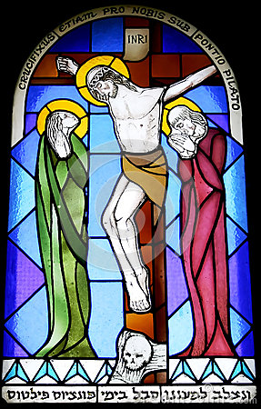 Stained glass window 19th century