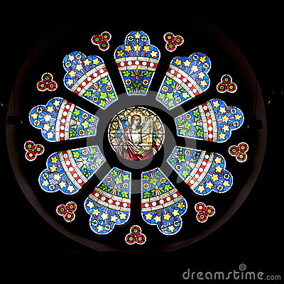 Free Stained Glass Window Royalty Free Stock Photo - 42360585