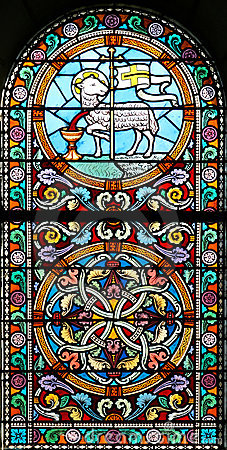 Stained glass window (Brittany,France)