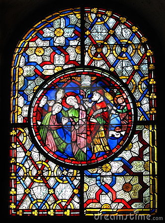 Stained glass window at Canterbury Cathedral