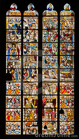 Stained glass window from Cologne Cathedral