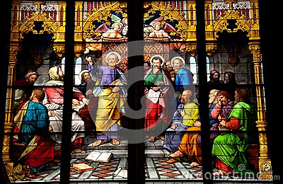St Peter stained glass artwork