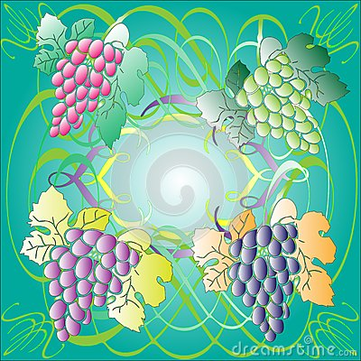 Stained-glass Window With Grape