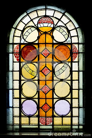 Free Stained Glass Window In Church Stock Image - 110131501