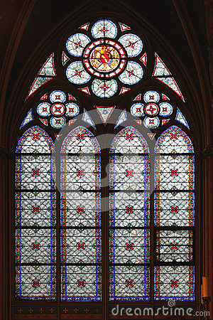 Free Stained Glass Window Notre Dame Royalty Free Stock Photo - 62453295