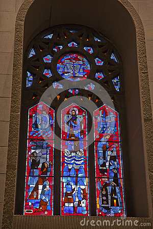 Stained Glass Window, St. Joseph's Oratory Of Mount Royal ...