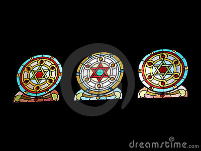 Jewish Holidays stained glass
